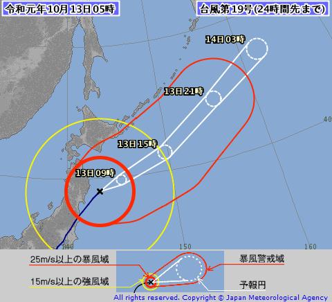 2019 台風19号(ハギビス)の影響で中止や延期のイベントは?進路予想も