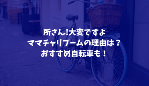 所さん!大変ですよ|ママチャリブームの理由は?おすすめ自転車も!